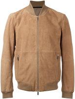 HUGO BOSS front pocket bomber jacket - men - Goat Skin/Polyester/Cotton/Spandex/Elastane - 46