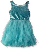 Biscotti Girls' Grand Entrance Organza Dress with Sequinned Bodice