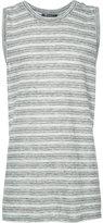 Alexander Wang striped tank top - men - Cotton/Linen/Flax - XS