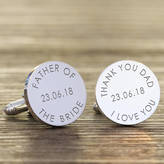 Nest Personalised 'Father Of The...' Wedding Cufflinks