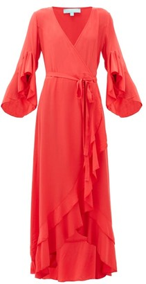 Melissa Odabash Cheryl Ruffled Wrap Dress - Red