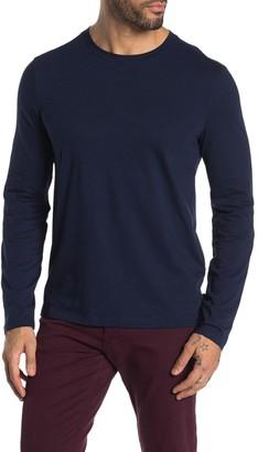 John Varvatos Bloomington Long Sleeve Feeder Stripe Pullover
