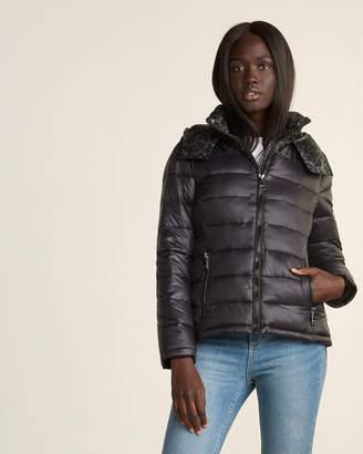 Calvin Klein Leopard Combo Full-Zip Puffer Jacket