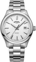 Rotary Oxford Silver Brushed Dial Silver Bracelet Mens Watch