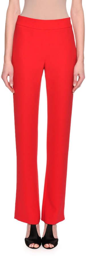 Giorgio Armani Silk Wide-Leg Pants, Rose Pink