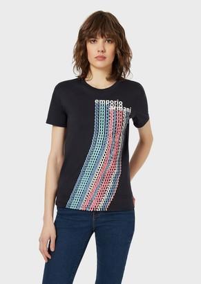 Emporio Armani Pima Jersey T-Shirt With Optical Logo