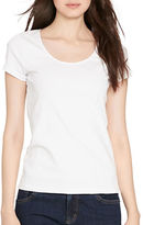 Lauren Ralph Lauren Petite Stretch Cotton Scoopneck Tee