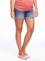 "Old Navy Maternity Full-Panel Denim Shorts (5"")"