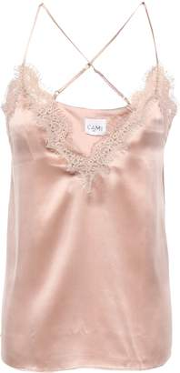 CAMI NYC Lace-trimmed Silk-charmeuse Camisole
