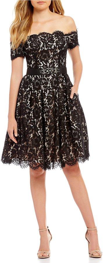 Eliza J Off The Shoulder Lace Dress