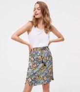 LOFT Petite Tapestry Drawstring Skirt
