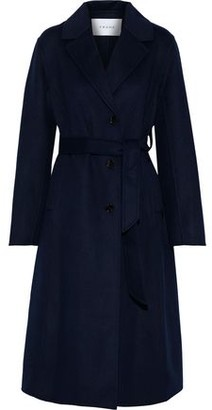Frame Belted Wool-blend Coat