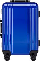 "Zero Halliburton Men's Polycarbonate Classic 22"" Carry-On Spinner Luggage-BLUE"