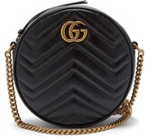 Gucci GG Marmont Circular Leather Cross-body Bag - Womens - Black
