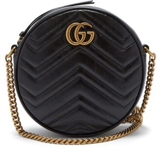 Gucci GG Marmont Circular Leather Cross-body Bag - Black