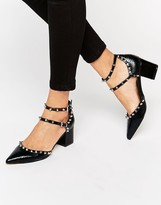 Asos SLOW DOWN Studded Pointed Heels