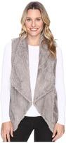 Dylan by True Grit - Silky Faux Fur Vintage Drape Vest Women's Vest