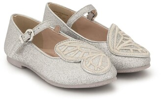 Sophia Webster Mini Butterfly Embroidered Ballerinas