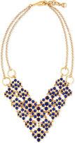 Lulu Frost Energy Crystal Cabochon Bib Necklace, Blue