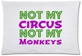 20x30 inch Pillowcase Funny Not My Circus Not My Monkeys Polish Proverb Pillowcase - Zippered Pillowcase, Pillow Protector, Best Pillow Cover - Standard Size inches, One-sided Print