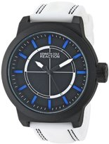 Kenneth Cole Reaction Unisex RK1418 Street Fashion Analog Display Japanese Quartz White Watch