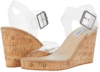 Steve Madden Bloom Wedge (Clear) Women's Shoes