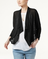 INC International Concepts Petite Cropped Open-Front Cardigan, Created for Macy's