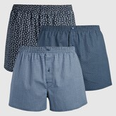 LA REDOUTE COLLECTIONS PLUS Pack of 3 Cotton Print Boxers