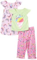 Komar Kids Pink 'Cool & Colorful' Nightgown & Pajama Set - Toddler