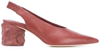 Camperlab Chunky Heel Pointed Slingback Pumps