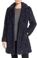 Eliza J Women's Faux Persian Lamb Coat