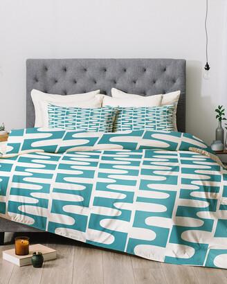 Deny Designs Heather Dutton Hopscotch Blue Comforter Set
