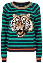 SET Embroidered Tiger Sweater