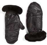 UGG Genuine Shearling & Leather Mittens