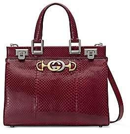 Gucci Women's Small Zumi Snakeskin Top Handle Bag