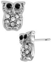 Betsey Johnson Crystal Owl Stud Earring