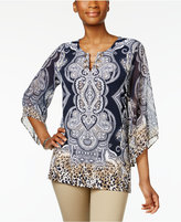 JM Collection Printed Toggle Tunic, Only at Macy's