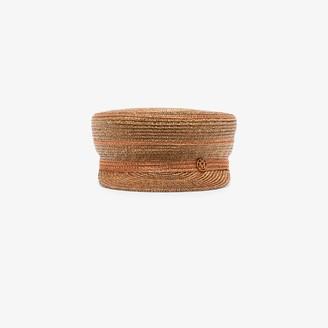 Maison Michel brown Abby straw baker boy hat