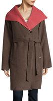 Ellen Tracy Wool Blend Belted Coat