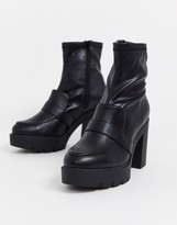 Asos Design DESIGN Europe chunky loafer boots in black