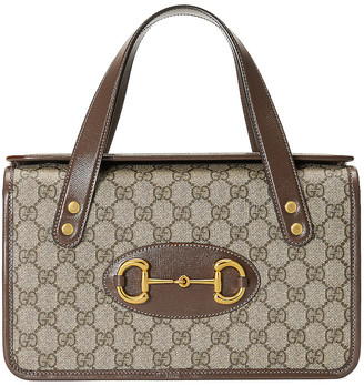 Gucci Horsebit 1955 Shoulder Bag in Beige Ebony & Brown Sugar | FWRD