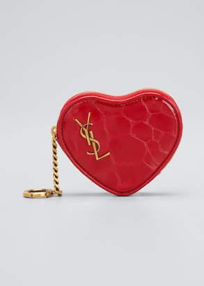 Saint Laurent Heart Shaped Zip Pouch Wristlet