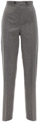 Lardini High Waist Cool Wool Straight Pants