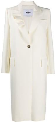 MSGM Ruffled Single-Breasted Coat