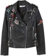 MANGO Appliquà biker jacket