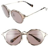 Miu Miu Women's 49Mm Sunglasses - Black/ Gold