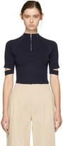 Nomia Navy Zip-up Pullover
