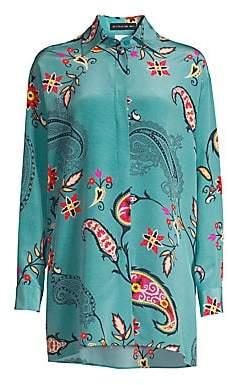 Etro Women's Silk Paisley Tunic Top