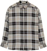 Sessun Checked Cotton Oversized Delima Shirt