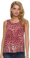 Juicy Couture Women's Sequin Mixed-Media Tank